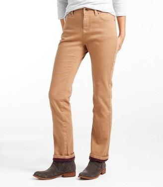 L.L. Bean Women's True Shape Jeans, Classic Fit Straight-Leg Fleece-Lined Colors