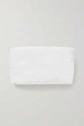 Kassl Editions Padded Coated Cotton-blend Clutch - White