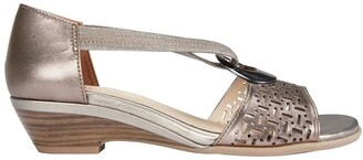 Easy Steps Chime Pewter Metallic Sandals