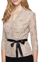 Alex Evenings Plus Floral Lace Blouse