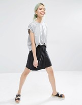 Monki Wrap Jersey Mini Skirt