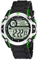 Calypso Men's Digital Watch with LCD Dial Digital Display and Black Plastic Strap K5577/3