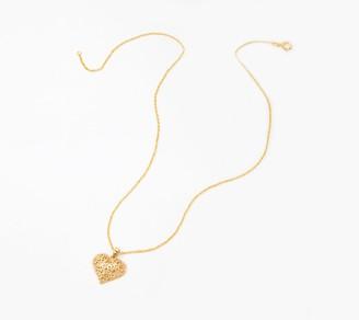 Adi Paz Filigree Heart Pendant w/ Chain, 14K
