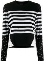 Pinko mixed print sequin blouse