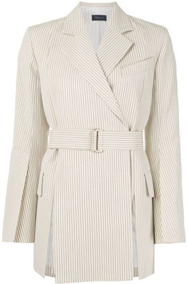 Eudon Choi striped belted jacket