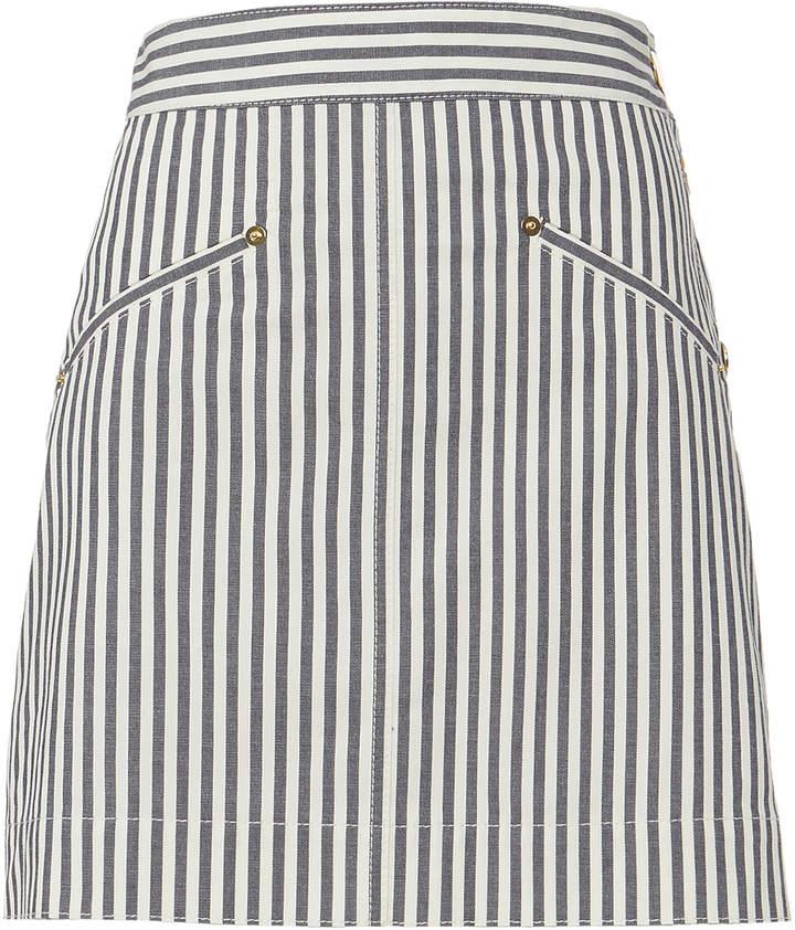 Derek Lam 10 Crosby Striped Mini Skirt