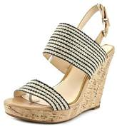 Jessica Simpson Janic Open Toe Canvas Wedge Sandal.