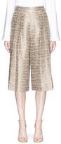 Alice + Olivia 'Rocco' high waist metallic tweed culottes