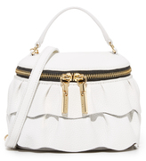 Milly Astor Ruffle Small Top Zip Cross Body Bag
