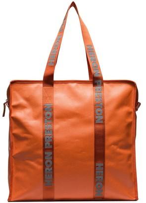 Heron Preston orange oversized plastic tote