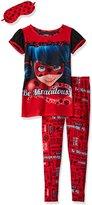 """Komar Kids Miraculous Big Girls' """"Be Miraculous"""" 2-Piece Pajamas with Sleep Mask"""