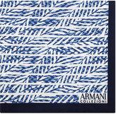Armani Collezioni Palm Leaf Silk Pocket Square