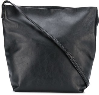 Ann Demeulemeester Cracked-Effect Crossbody Bag