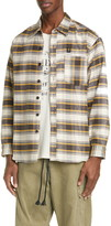 Billy Los Angeles Embroidered Check Flannel Button-Up Shirt