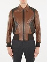 Neil Barrett Brown Modernist Leather Jacket