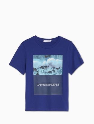 Calvin Klein Boys Ocean Crash Photo Print T-Shirt