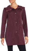 Ellen Tracy Plus Snap-Front Hooded Jacket