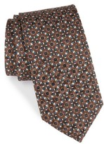Canali Men's Floral Medallion Silk Tie