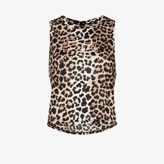 P.E Nation Bar Down Leopard Print Tank Top
