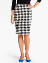 Talbots Snowy Houndstooth Pencil Skirt