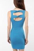 Knit Twist-Back Fitted Dress