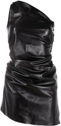 Manokhi Ruched One-Shoulder Mini Dress