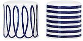 Kate Spade Charlotte Street Swirled & Striped Porcelain Salt & Pepper Shaker Set