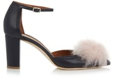 Malone Souliers Jan cashmere-pompom leather pumps