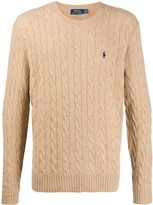 Polo Ralph Lauren cable knit logo pullover