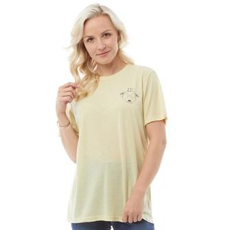 Animal Womens Time Flies Graphic T-Shirt Merangue Yellow