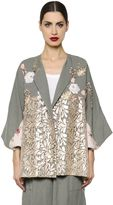 Antonio Marras Embroidered Linen & Macramé Lace Jacket