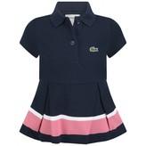 Lacoste LacosteGirls Navy Pique Polo Dress With Stripe