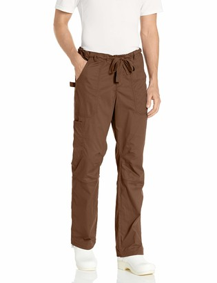 KOI Men's Big-Tall James Elastic-Waist Scrub Pants with Zip Fly and Drawstring Waist