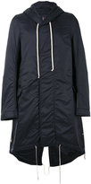 Rick Owens hooded raincoat - men - Nylon - S
