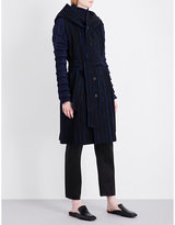 Issey Miyake Parallel striped wool-blend gilet
