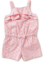 Little Me Baby Girls 12-24 Months Popover Ruffle Woven Romper