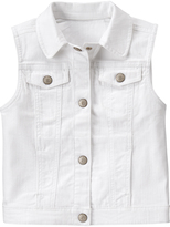 Crazy 8 White Denim Vest - Girls