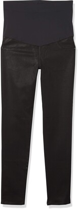 James Jeans Women's Twiggy External Maternity Band Legging Jean in Oil Slicked 31