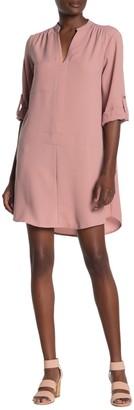 Lush Novak 3/4 Length Sleeve Shift Dress