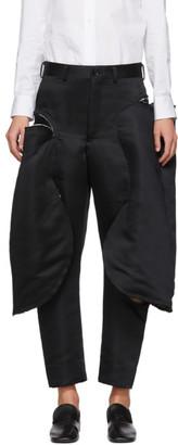 Comme des Garcons Black Satin Cut-Out Trousers