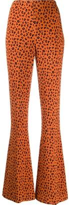 Miu Miu Leopard-Print Flared Trousers