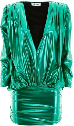 ATTICO Metallic Mini Dress