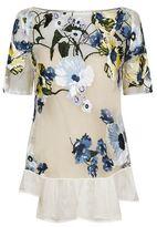 Erdem Noelle Floral Embroidered Top