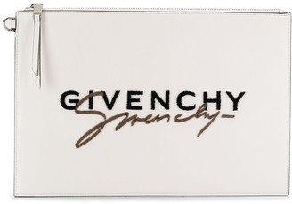 Givenchy signature logo clutch
