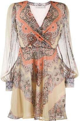 Etro Lace Print Flared Dress
