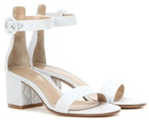 Gianvito Rossi Versilia Driver Mid Quilted Leather Sandals