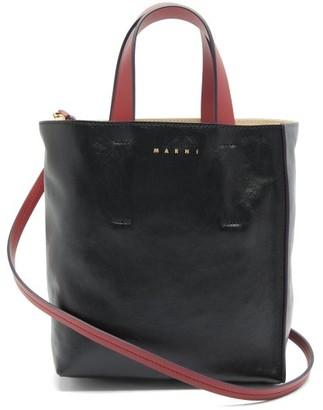 Marni Museo Mini Leather Tote Bag - Black Multi