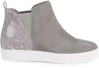 Steve Madden Zaci Embossed Leather & Suede Chelsea Sneakers