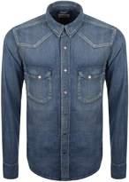 Nudie Jeans Jonis Denim Shirt Blue
