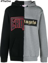 Palm Angels split effect hoodie - men - Cotton - M